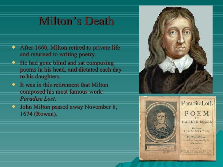 on his deceased wife by john milton