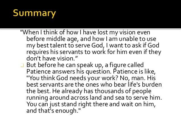 blindness summary