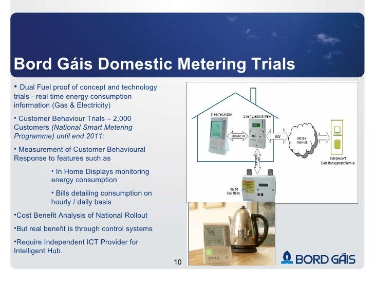 Bord Gáis Domestic Metering Trials <ul><li>Dual Fuel proof of concept and technology trials - real time energy consumption...