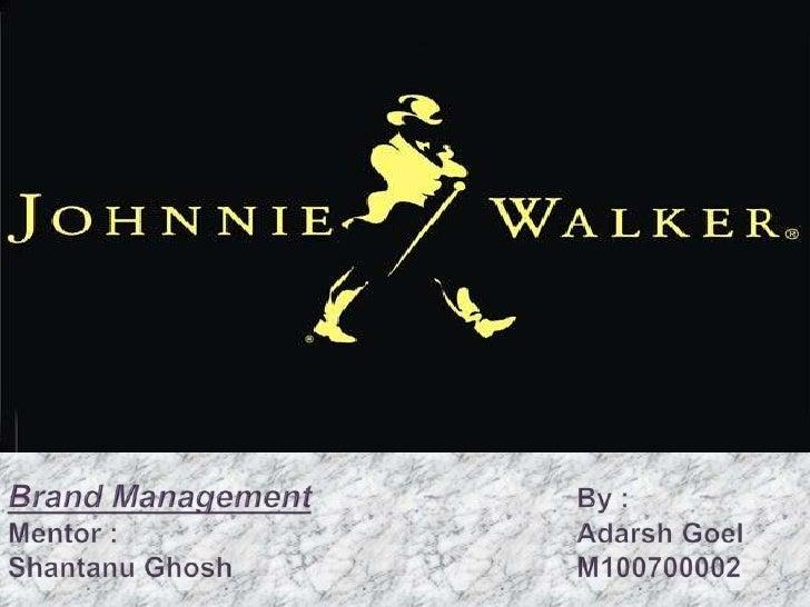 Brand ManagementBy :Mentor :Adarsh GoelShantanuGhoshM100700002<br />