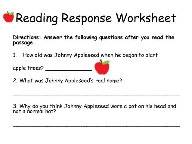Johnny appleseed – Johnny Appleseed Worksheet