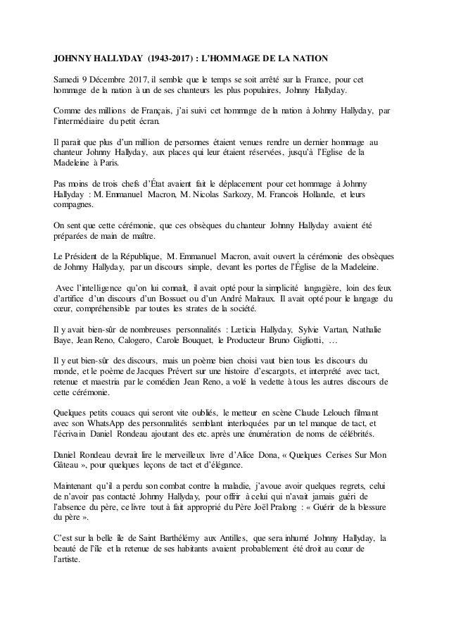 Johnny Hallyday 1943 2017 Lhommage De La Nation