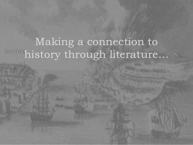 Making a connection to history through literature…