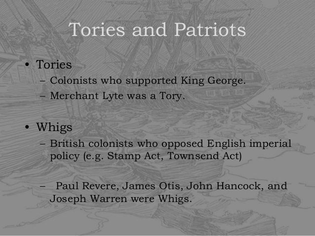 The early Tories were a bit different (Scottish Jacobite rebels at the  Battle of Culloden)