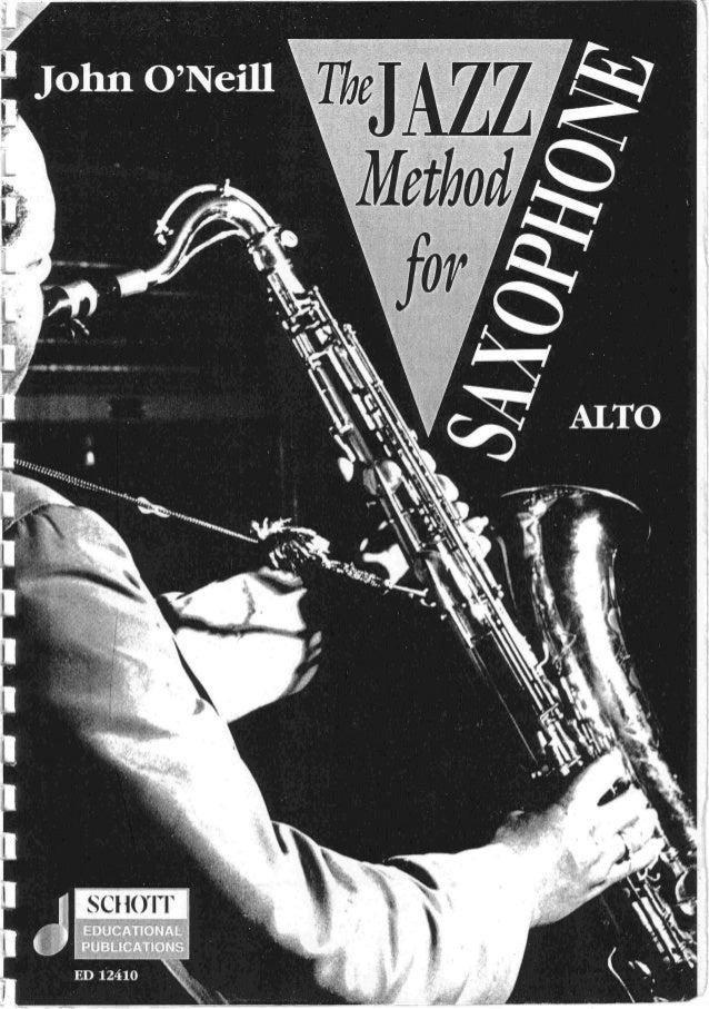 John o'neill   the jazz method for sax eb