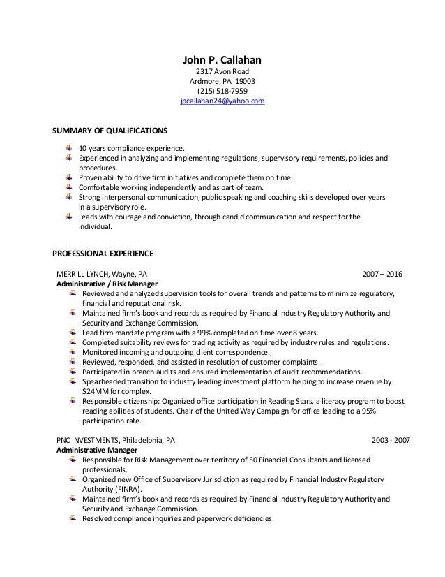 SlideShare  Compliance Resume
