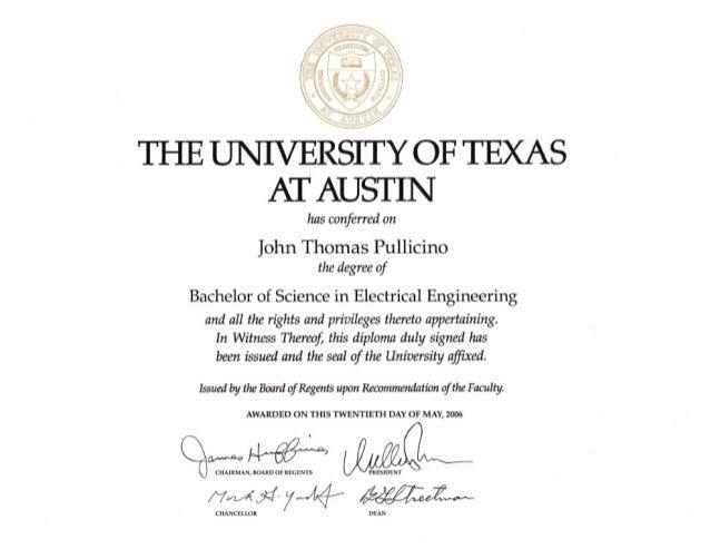 John Pullicino Certificates