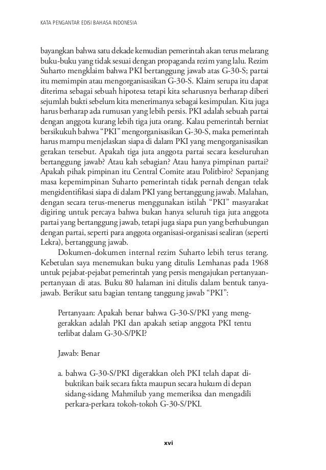 Dalih Pembunuhan Massal G 30 S Dan Kudeta Soeharto