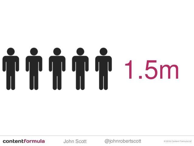@johnrobertscottJohn Scott © 2016 Content Formula Ltd 1.5m