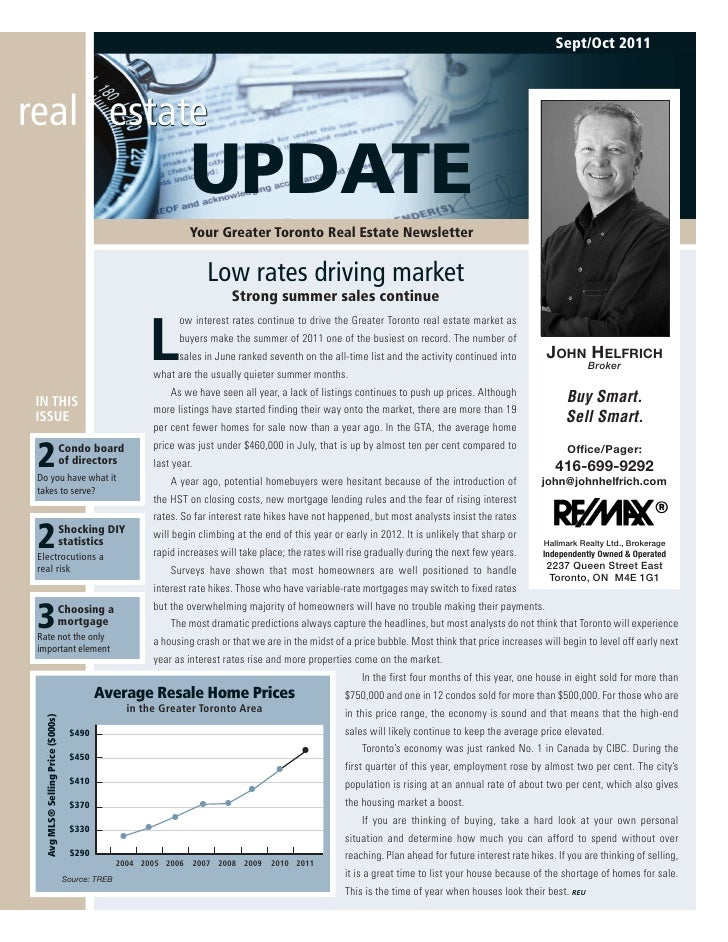 Sept/Oct 2011real estate                                          UPDATE                                          Your Gre...