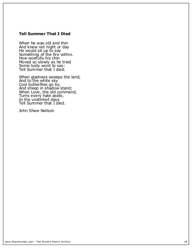 John shaw neilson poems