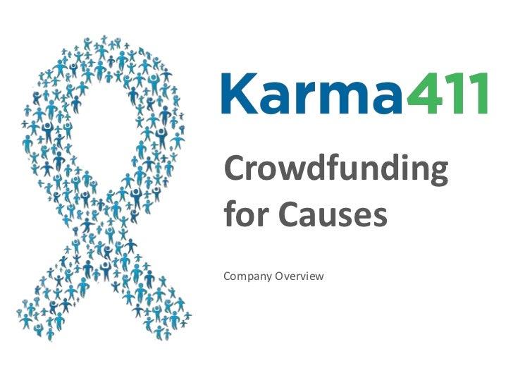 Crowdfundingfor CausesCompany Overview