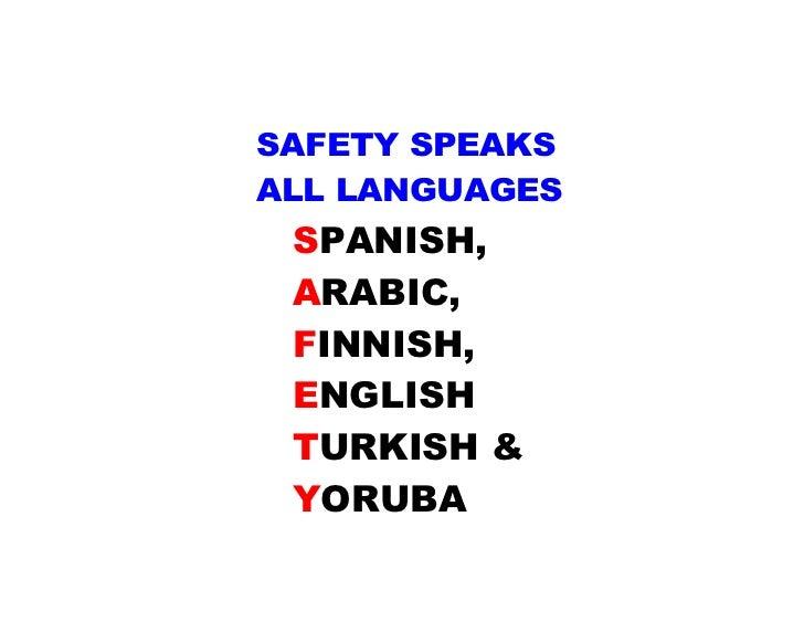 safety slogans in spanish