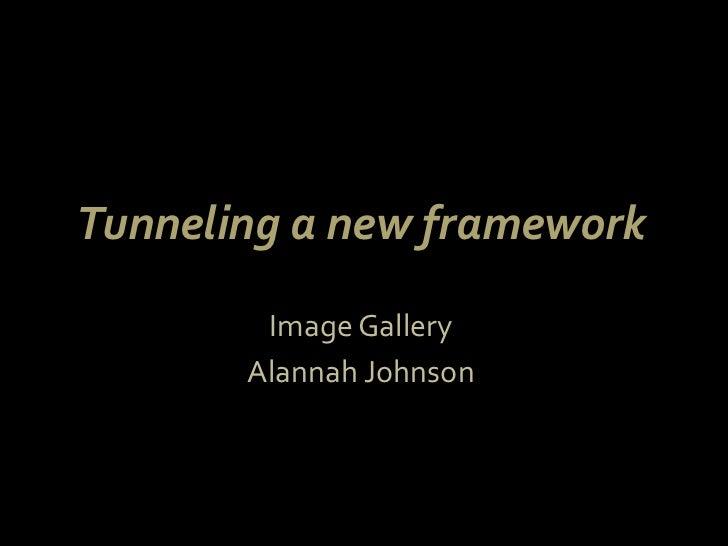 Tunneling a new framework <br />Image Gallery <br />Alannah Johnson <br />