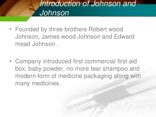 introduction of johnson johnson Johnson & johnson has been ordered to pay nearly $47 billion in damages to  22 women and their families who say asbestos found in the.