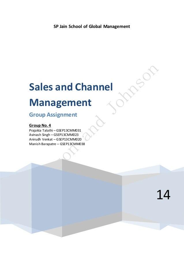 Sample: Marketing Assignment Marketing Management