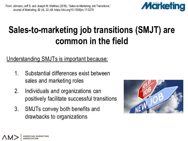 "From: Sales-to-marketing job transitions (SMJT) are common in the field Johnson, Jeff S. and Joseph M. Matthes (2018), ""Sa..."