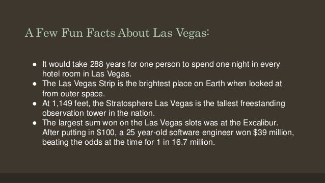 Johnson family reunion overview for Amazing facts about las vegas