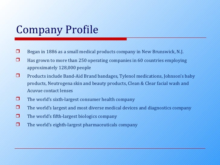information about johnson and johnson company This site is published by the johnson & johnson family of companies australia, which is solely responsible for its contents it is intended for visitors from.