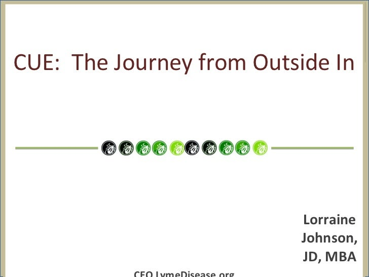 CUE: The Journey from Outside In                           Lorraine                           Johnson,                    ...