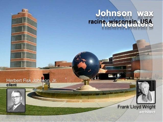 johnson wax headquaters  architectural presentation