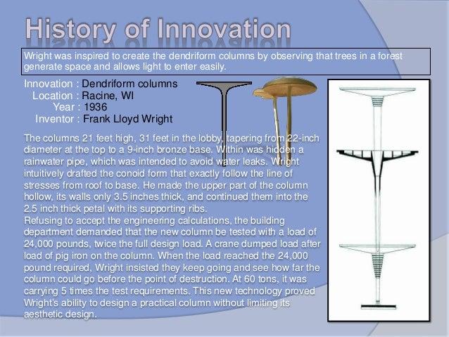Johnson wax headquaters, architectural presentation