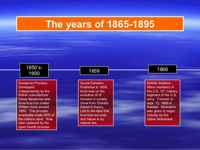 The years of 1865-1895    1850's-                                           1866                              1859     190...