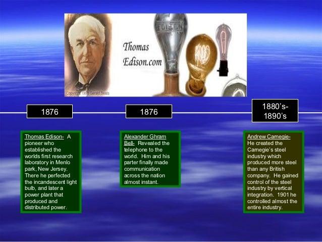 1880's-      1876                     1876                                                     1890'sThomas Edison- A     ...