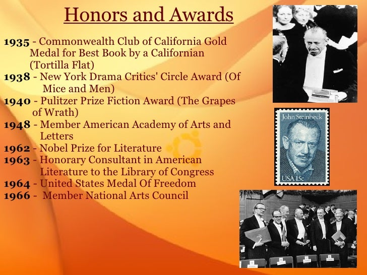 John steinbeck book awards