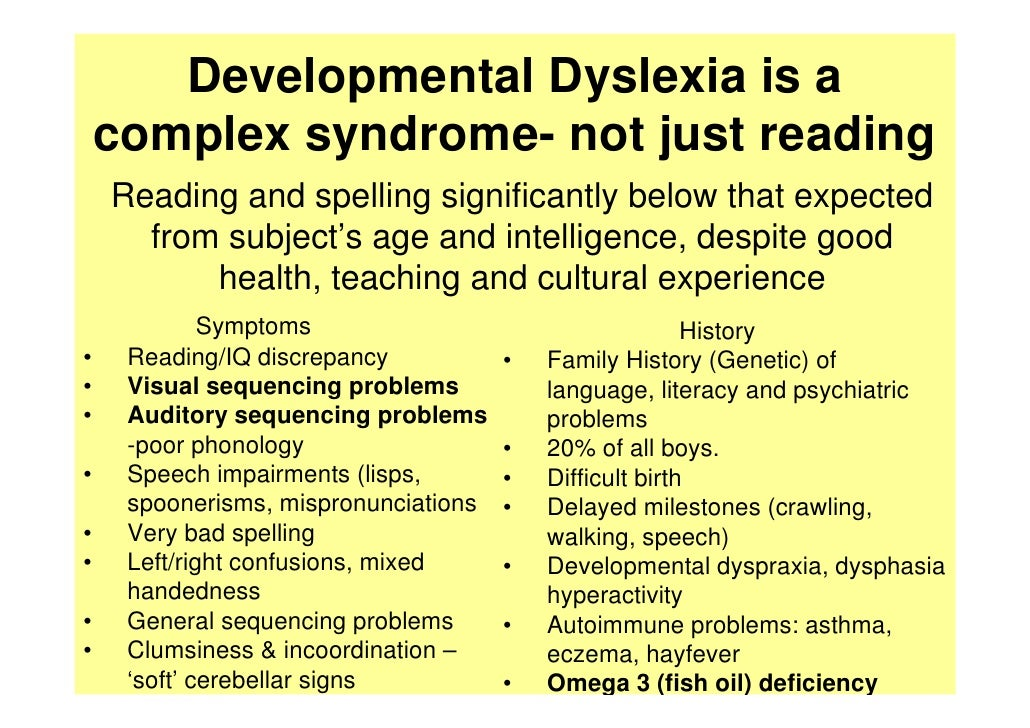 Dyspraxia and poor handwriting and intelligence