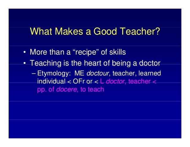 an analysis of what makes a good teacher How to write a character analysis this is all you need to know to write a character analysisthe character analysis is easily divided into three parts each of these is discussed in detail on this blog you do not need to answer every question, but examining the character from these three perspectives will help you write an exemplary essay.