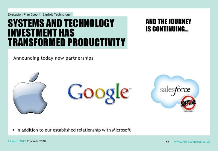 Execution Plan Step 4: Exploit TechnologySYSTEMS AND TECHNOLOGY                                            AND THE JOURNEY...