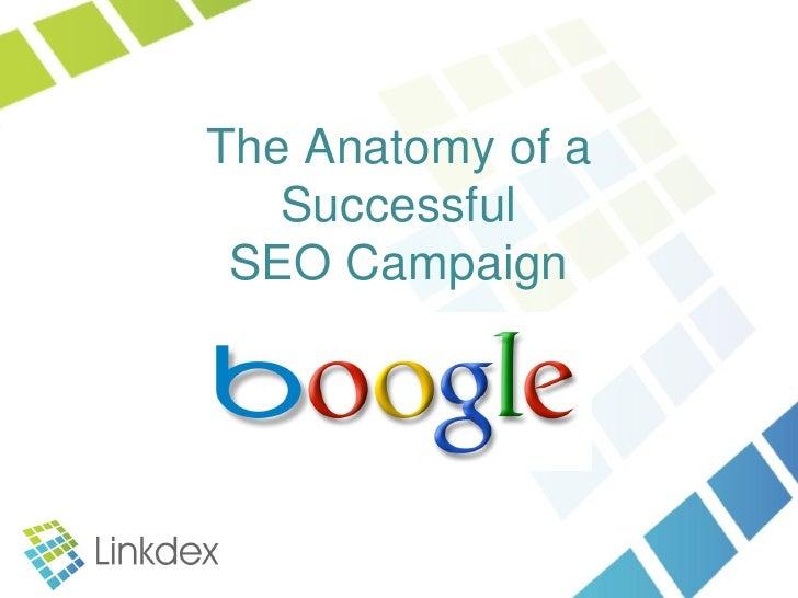 The Anatomy of a   Successful SEO Campaign