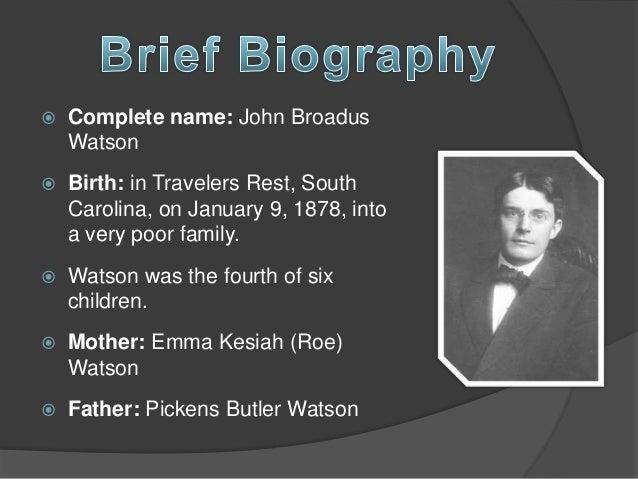 john b watson biography