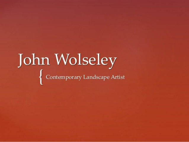 { John Wolseley Contemporary Landscape Artist