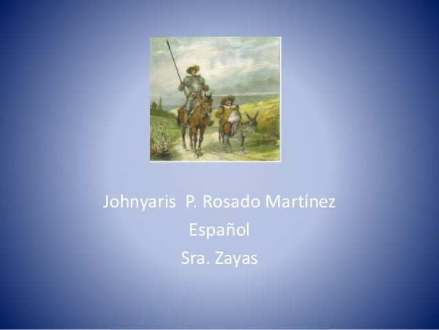 Sátira Johnyaris P. Rosado Martínez Español Sra. Zayas