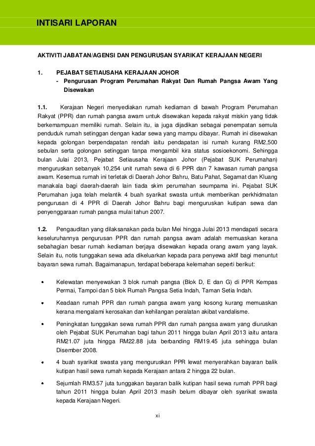 Laporan Ketua Audit Negara 2013 Siri 1 Johor