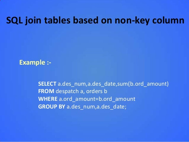 how to join in sql