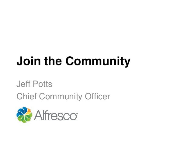 Join the CommunityJeff PottsChief Community Officer