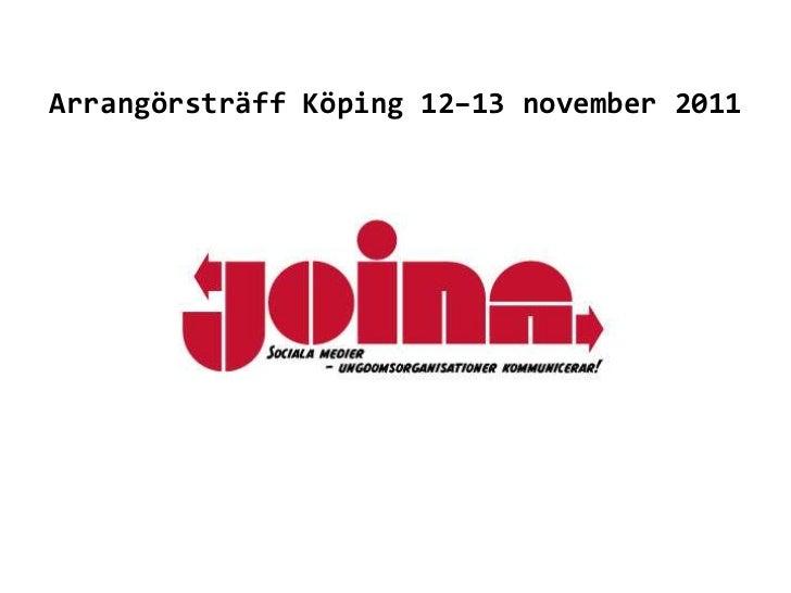Arrangörsträff Köping 12–13 november 2011