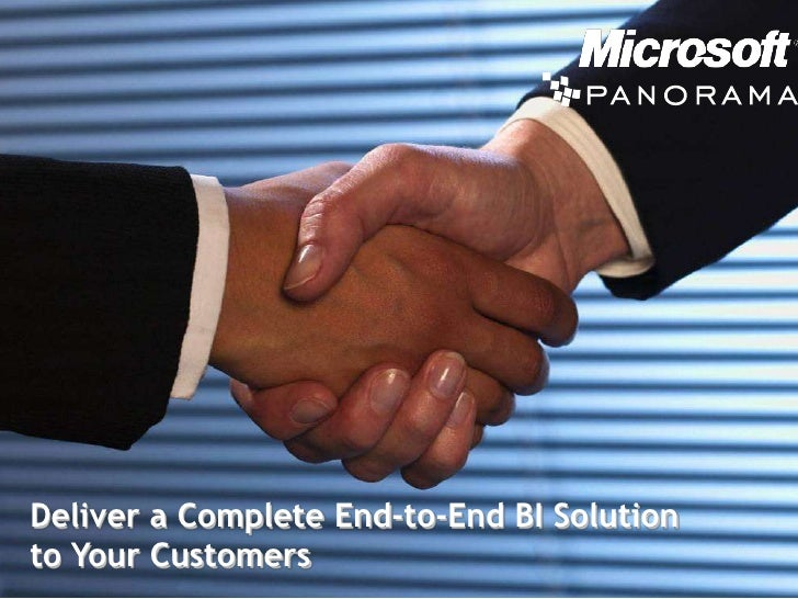 Deliver a Complete End-to-End BI Solution to Your Customers <br />