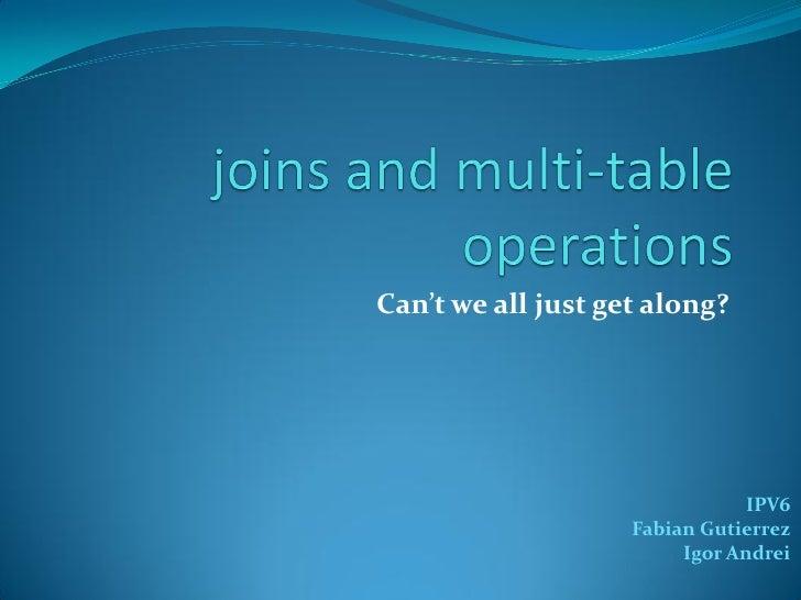 Can't we all just get along?                                IPV6                    Fabian Gutierrez                      ...