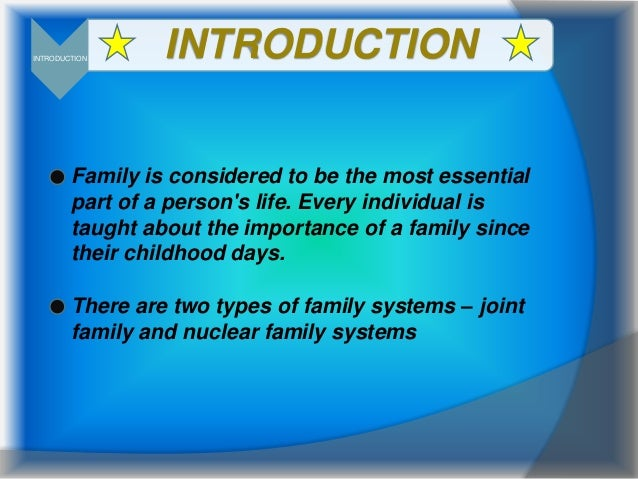 Essay on the help joint family system in hindi