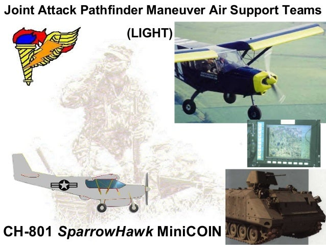 Joint Attack Pathfinder Maneuver Air Support Teams                   (LIGHT)CH-801 SparrowHawk MiniCOIN
