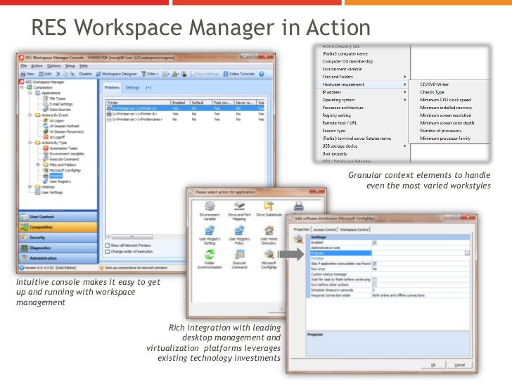 RES Workspace Manager in Action                                                                        Granular context el...