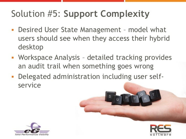 Solution #5: Support Complexity Desired User State Management – model what  users should see when they access their hybri...