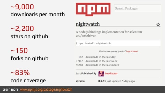 Nightwatch.js └── tests └── login.js ...