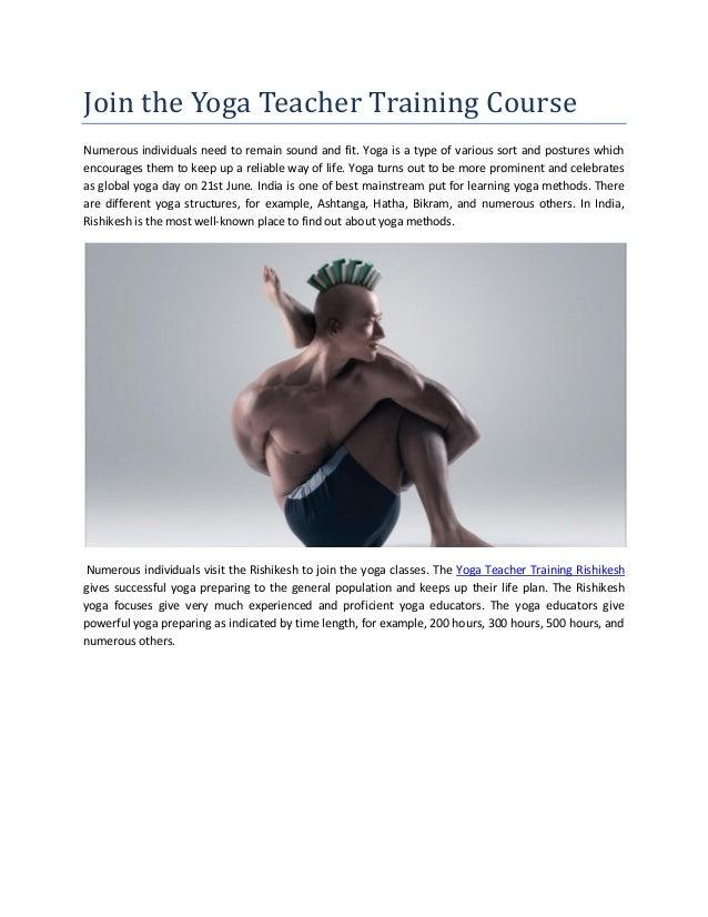 Join The Yoga Teacher Training Course