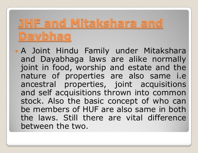 Hindu Joint Family Property Partition Act