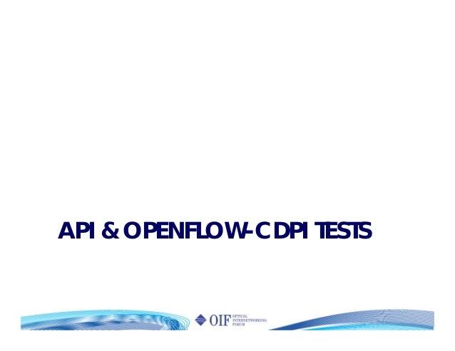 API & OPENFLOW-CDPI TESTS